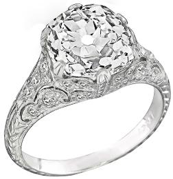 EGL Certified 4.40ct Diamond Engagement Ring Photo 1