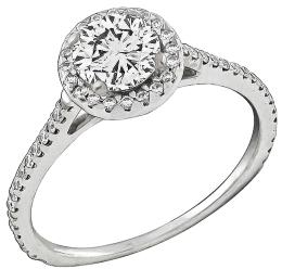 EGL Certified 1.00ct Diamond Engagement Ring Photo 1