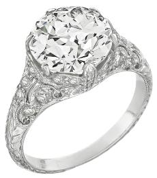 EGL Certified 3.72ct Diamond Engagement Ring Photo 1