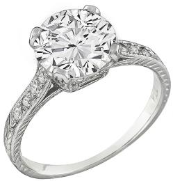 EGL Certified 1.89ct Diamond Engagement Ring Photo 1