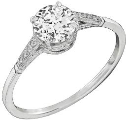 GIA Certified 0.60ct Diamond Engagement Ring Photo 1