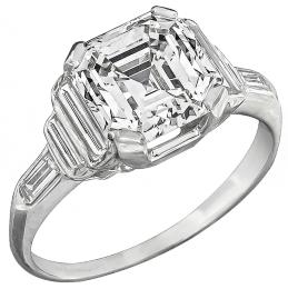 gia certified 2.38ct diamond engagement ring photo 1