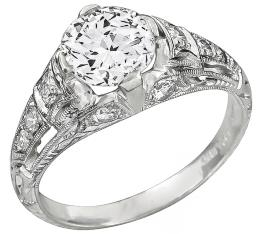 gia certified 0.96ct diamond engagement ring photo 1